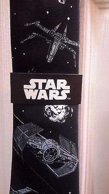 NEW Disney Parks Star Wars Tie Fighter Silk Tie for Adults