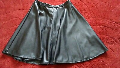 faux leather skater skirt age 14-15, New Look