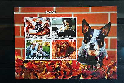 Hunde 65 dogs Chiens Cabo Verde 2016 Tiere animals pets Fauna postfrisch ** MNH