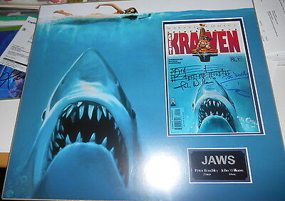 JAWS personally signed MARVEL comic - PETER BENCHLEY & JOHN WILLIAMS - VERY RARE