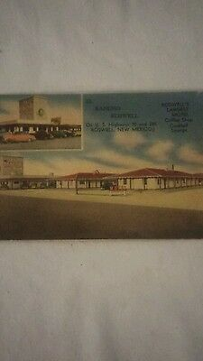 Vintage Linen Post Card El Rancho Roswell New Mexico