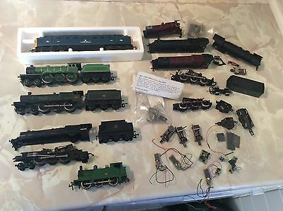 OO Gauge Large Job Lot Of Locomotive,Tenders, Motors, Body Shells & Spares