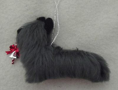 SKYE TERRIER dog Part needle felted hanging decoration ornament