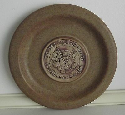 The OLD ENGLISH SHEEPDOG Club of Wales 1988 Championship show dog plate