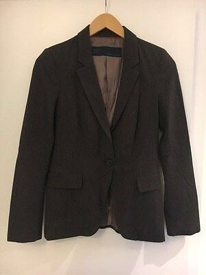 Zara Womens Ladies Trouser Suit Tailored Brown Size 8-10 - Jacket and Trousers