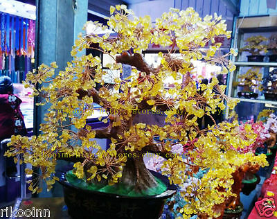 AAA+ Lucky Tree!!! Natural Pretty Citrine Yellow Crystal Gem Tree