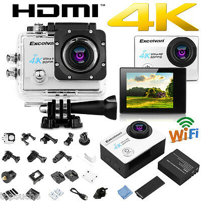 Q8 16MP Waterproof 4K FHD 1080P WIFI 2'' Sport Action Camera DV DVR Camcorder UK