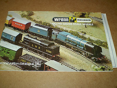 WRENN MODEL RAILWAYS TOY CATALOGUE UNDATED UK 2nd EDITION+P/LI EXCELLENT FOR AGE