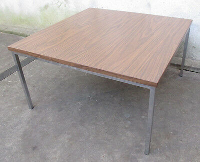 FLORENCE KNOLL STYLE MID CENTURY SQUARE COFFEE / SIDE TABLE end chrome modern