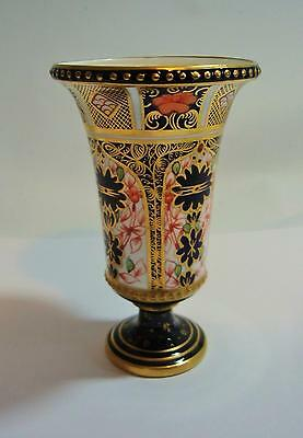 Royal Crown Derby Imari 1128 Jewelled Campana Vase 1913