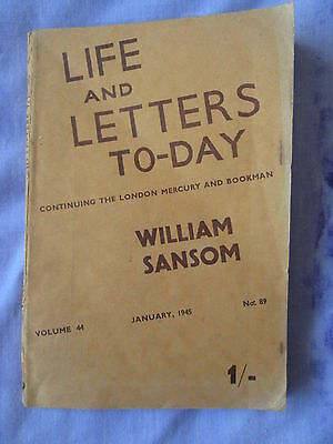 Life and Letters Today 1945 London Mercury Bookman William Sansom Vernon Watkins