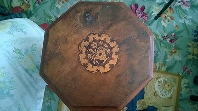 Victorian Walnut and Inlaid Trumpet Work/Sewing Table Cash on collection only