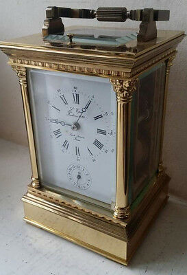 Stunning Rare L'epee Gilt Striking Repeater Alarm Carriage Clock
