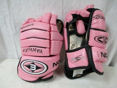 "EASTON SYNERGY 500 13""-33CM Ice Hockey GLOVES Ergo Thumb PINK"