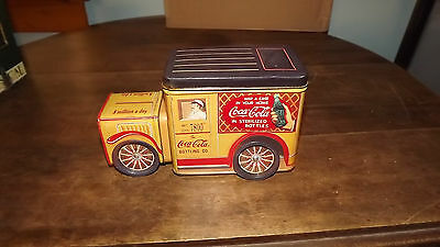 Coca-Cola Collectible Tin Delivery Truck with Moving Wheels Nice O12