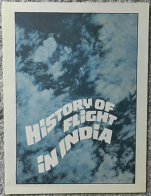 Indian Airlines - 'history Of Flight In India' Poster / Brochure