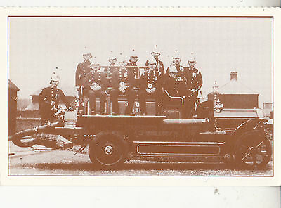 "CU65. Postcard. Reprint of the First ""Dennis"" Engine.Romney Marsh, 1930.Firemen"