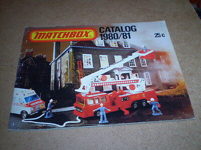 Matchbox Toy Catalogue 1980/81 Usa Edition Excellent Condition For Age