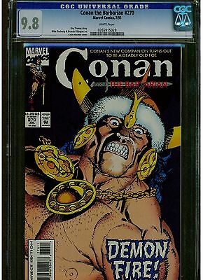 Conan 270 Cgc 9.8 Mint White Pages Lower Printings Late Issue Blue Label Scarcer