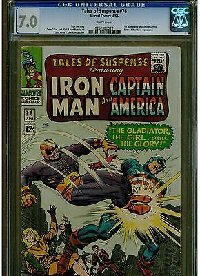 Tales Of Suspense #76 Cgc 7.0 1St Appearance Of Ultimo 1966 White Pages Silver