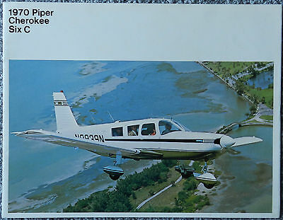 12 Page Piper Cherokee Six C  Promo Sales Brochure 1970