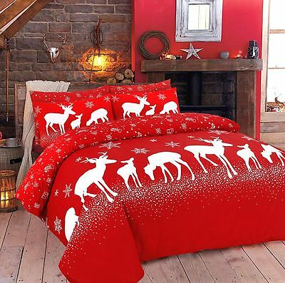 Christmas Duvet Quilt Cover Bedding Set With Pillowcase Single,Double,King,sking