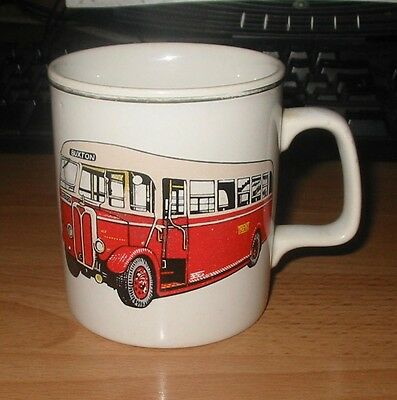 Lovely Pottery Mug With A SON 1940 Motor Bus In Trent Bus / Coach Livery