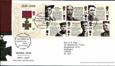 "2006 Victoria Cross  M-Sheet ""bureau ""hand Stamp Priced To Sell,,"
