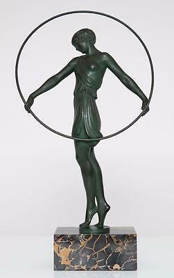 """Le Verrier French Art Deco """"Harmonie"""" signed Fayral c1925"""