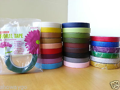 Floral Stem Wrap Florist Artificial Flower and Metallic Tape Wire Coverage Craft