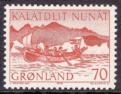 GREENLAND 1972 stamp Mail Boat um (NH) mint Flags