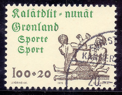 GREENLAND 1976 stamp Sports Arm Wrestling fine used (CTO)