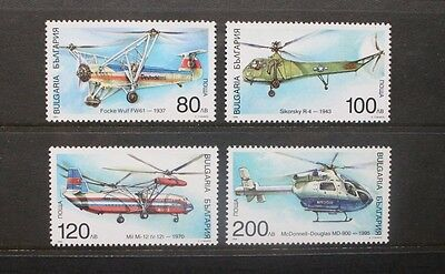 BULGARIA 1998 Helicopters Aviation. Set of 4. Mint Never Hinged. SG4206/4209.