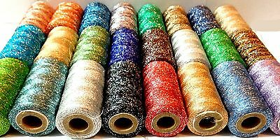 NEW 100% PURE METALLIC EMBROIDERY THREAD SPOOLS x 24 BEST COLOURS 400 YARDS EACH