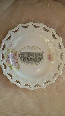 Ceramic Ribbon Plate Abercarn (South Wales) Viaduct Industrial