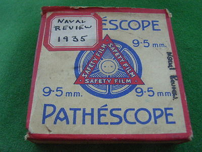 1940's Pathescope 9.5mm safety film. Naval Review at Spithead 1935. No: 30164