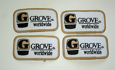 4 Vintage Grove Worldwide Cranes & Construction Equipment Patch New NOS 1970s