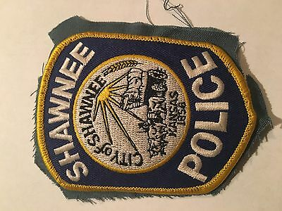 Shawnee Kansas Police.    Gold triim with city seal   Full size used