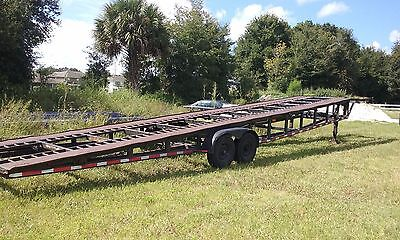 1996 3 CAR HAULER, NEW DOT INSPECTION ,12K lb.Winch, with 2 frame Ball hitches
