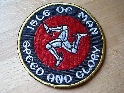 SPEED AND GLORY - Isle Of Man -- Patch Aufnäher ---super---