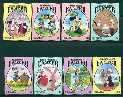 Gambia Scott #1524-1531 MNH Easter Disney Characters CV$16+