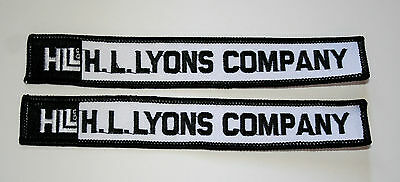 Lot of 2 Vintage H.L. Lyons Company Louisville Construction Patch New NOS 1970s