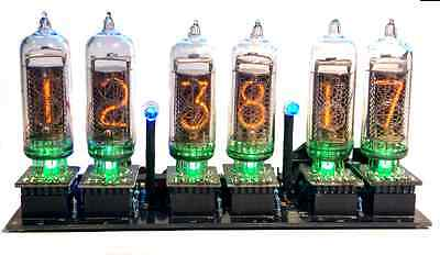 Nixie Clock IN-14 Kit (no tubes) Arduino Open Source with Removable Tubes