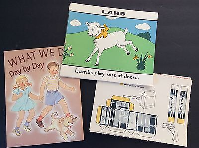 Lot Vintage 1940's 1950's National Dairy Council Scool Posters, Fold Ups, etc