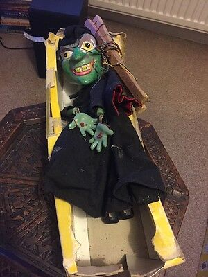 Classic Vintage Pelham Puppet Scary - Wicked Witch - Boxed