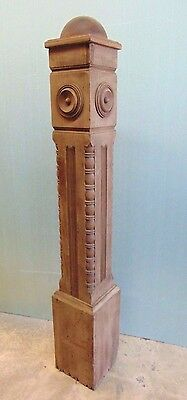 Beautiful Antique Carved Walnut Newel Post Salvage Architectural Salvage