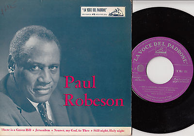 "PAUL ROBESON There is a Green Hill 45 giri EP 7"" Italy"