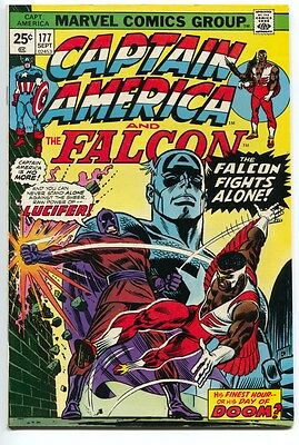 Captain America And The Falcon 177 1st Series Marvel 1974 FN VF