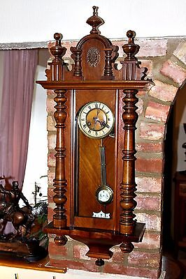Antique Large DGMS Junghans Regulator Oak 8-Day  Wall Clock with Chimes
