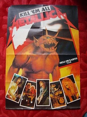 Metallica 1984 Hell on Earth Tour  poster RARE ORIGINAL affiche vintage